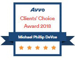 Avvo Clients' Choice Award 2018 - Michael Phillip DeVoe