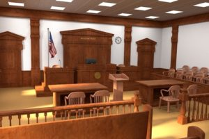 court room of divorce case