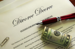 divorce papers for couple